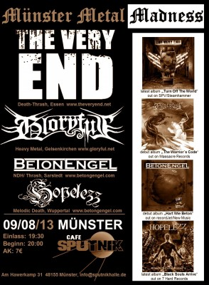 Flyer-The-Very-End-Gloryful-Münster-Sputnik-Metal