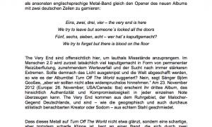 The Very End Turn off the world info deutsch