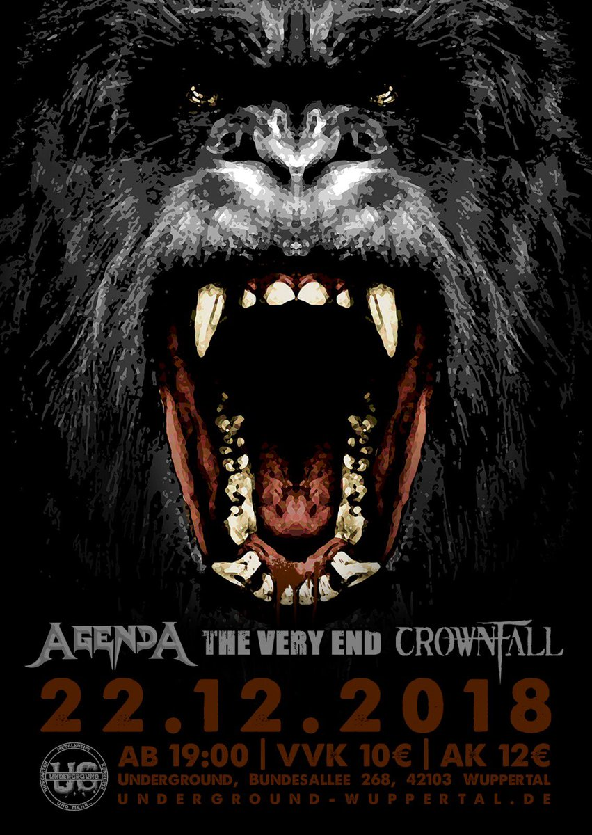 The Very End Crownfall Agenda Wuppertal Underground concert metal live