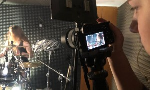 The Very End drum playthrough video shoot