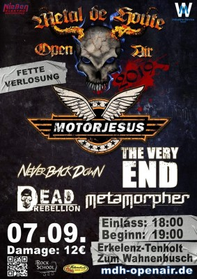 Metal De Houte Open Air 2019 with Motorjesus, The Very End, Metamorpher and Dead Rebellion
