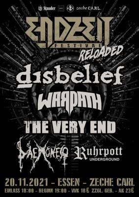 Endzeit Festival Reloaded Essen Zeche Carl Disbelief Warpath The Very End Daemonesq